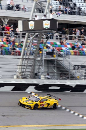 Corvette Racing; Rolex 24 at Daytona in Daytona Beach, Florida; January 30-31, 2021; Corvette C8.R #3 driven by Antonio Garcia, Jordan Taylor, and Nicky Catsburg; Corvette C8.R #4 driven by Tommy Milner, Nick Tandy, and Alexander Sims.