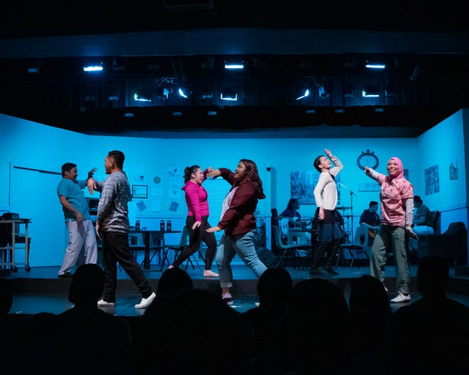 "The cast of Breaking Wave Theatre Company gets their dance moves on from their September 2019 production of ""Unspoken; A Mental Health Anthology."""