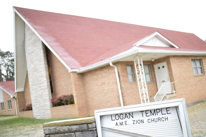 Logan Temple AME Zion Church at 2744 Selma Ave. in Knoxville, Tenn. on Thursday, Feb. 4, 2021.