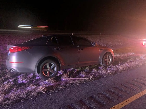 Four Louisville men were arrested Tuesday, Feb. 2, 2021, following a stolen vehicle pursuit on Interstate 65 in Southern Indiana, according to Indiana State Police.