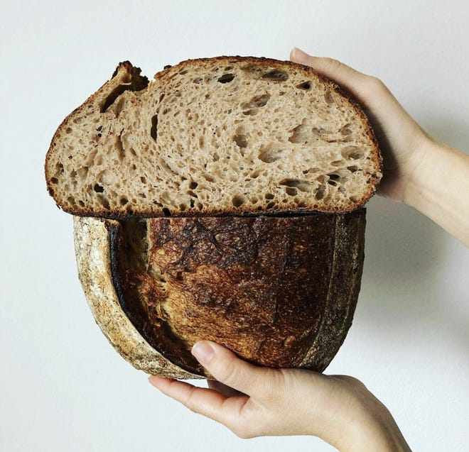 One of the kinds of breads Amano will sell at its pop-up Feb. 7 at Zocalo Food Park is made with 30% spelt, an ancient grain related to wheat. The grains are stone-ground and grown in Wisconsin.