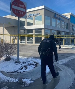 Bloomfield Township police arrested the man who crashed through a bank branch's front doors on Tuesday, Feb. 2, 2021.
