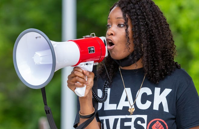 Alexandria Hughes participated in the summer protests.