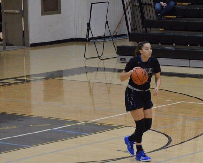 Gibert Mesquite girls basketball guard Alaya Fitzgerald