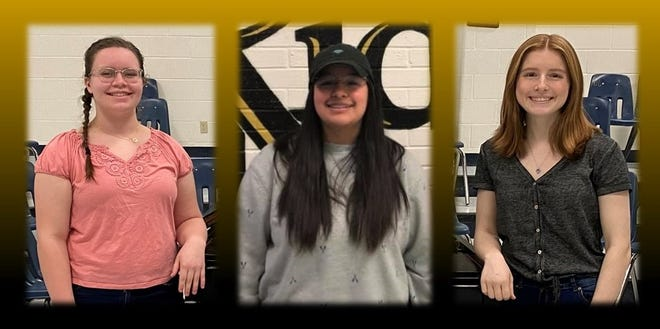 Left to right are Amberly Schell (sophomore) Ana Alvarez (senior) and Maranda Rose Adame (senior).