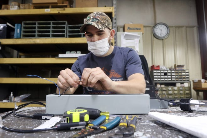 Zanesville High School graduate Duncan Yarnall participated in Zane State College's Pathways to Engineering program. He now works at Stewart Glapat.