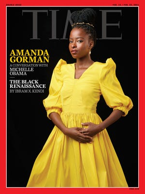Amanda Gorman was photographed Jan. 29 for the Feb. 5 edition of Time magazine.