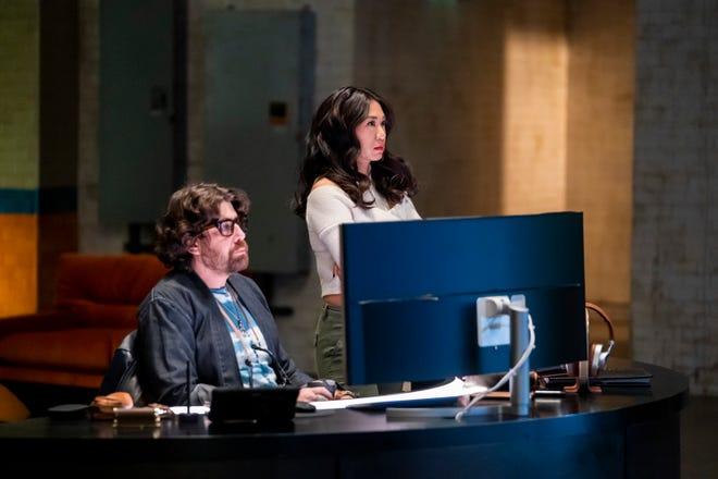 "Adam Goldberg as Harry Keshegian and Liza Lapira as Melody ""Mel"" Bayani in ""The Equalizer."""