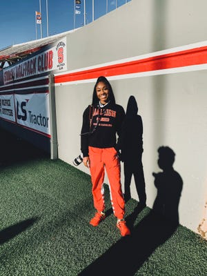 Chanelle Smith-Walker at Carter-Finley Stadium home of North Carolina State football.