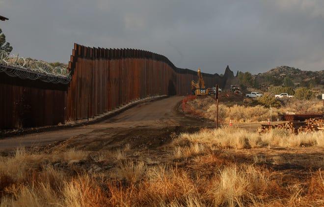 Border wall on Jan. 22, 2021, in Jacumba, California.