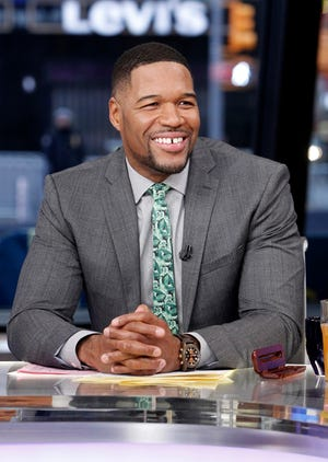 """Michael Strahan appears on ABC's """"Good Morning America"""" on Feb. 6, 2018"""