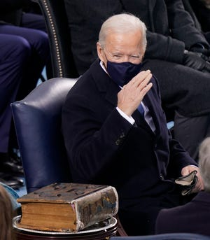 Joe Biden carried the family Bible for his inauguration at the U.S. Capitol Jan. 20.