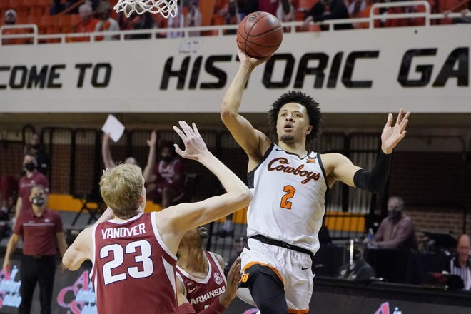 Oklahoma State guard Cade Cunningham is being projected as a possible top-three pick in this year's NBA draft.