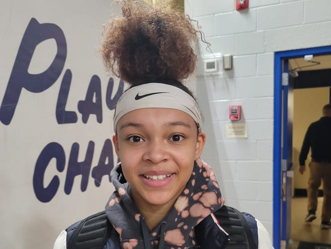 Paul VI sophomore Hannah Hidalgo is a point guard on the 2021 Eagles girls basketball team