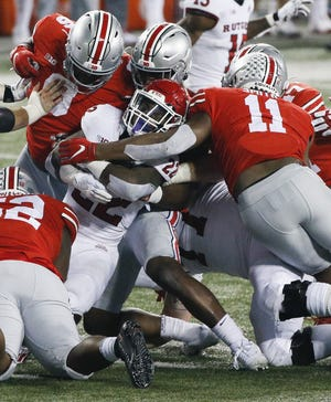 With returning players including Antwuan Jackson (52), Taron Vincent (6) and Tyreke Smith (11), Ohio State's defense figures to be tough against the run in 2021.
