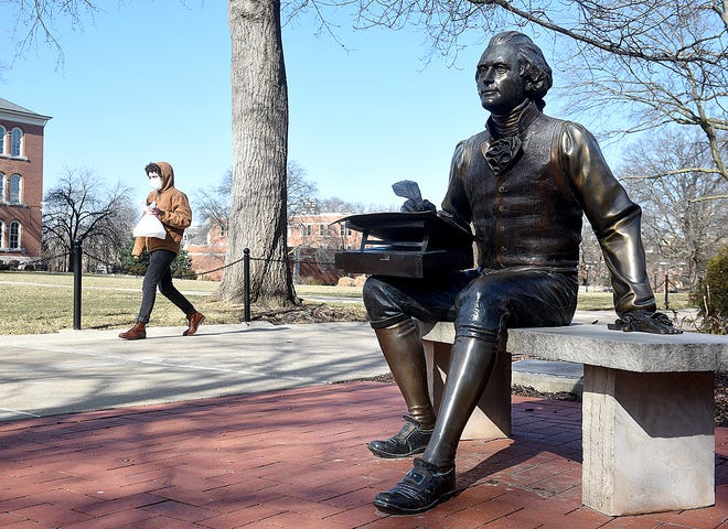 A task force created by UM System President Mun Choi has recommended placing a sign describing President Thomas Jefferson's accomplishments and failings next to the Jefferson statue on the Francis Quadrangle on the University of Missouri campus.