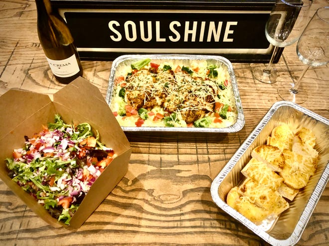 The family style blackened chicken Alfredo available at Soulshine Kitchen & Tavern in New Albany.