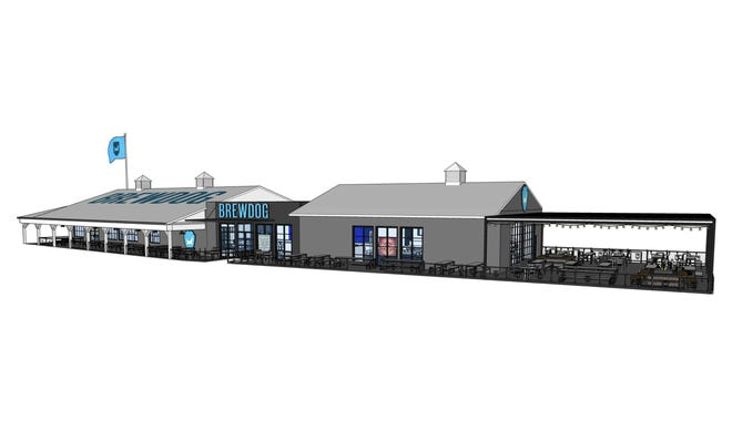 A rendering of the proposed New Albany taproom for BrewDog.