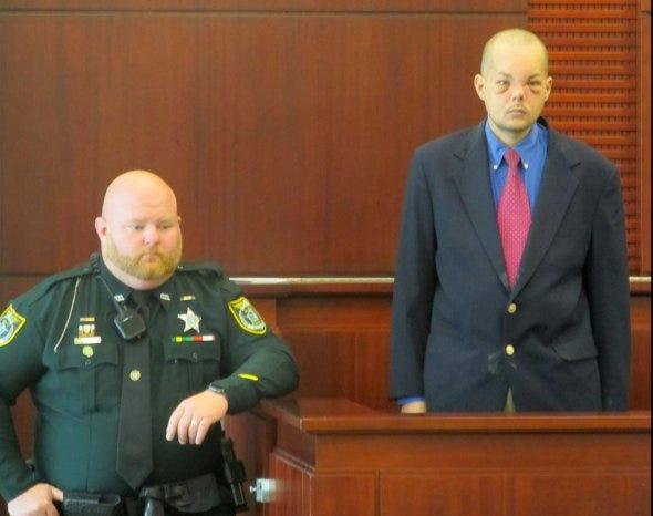 Joseph Bova prepares to testify at his murder trial in September 2019.