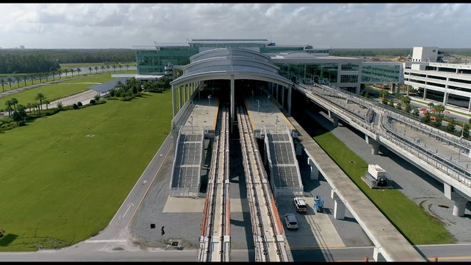 The Intermodal Terminal at Orlando International Airport is where Brightline trains will be arriving and departing as the company extends its line from South Florida. Plans also call for a connection to Tampa, with possible linkages with Disney Springs and SunRail now under study.