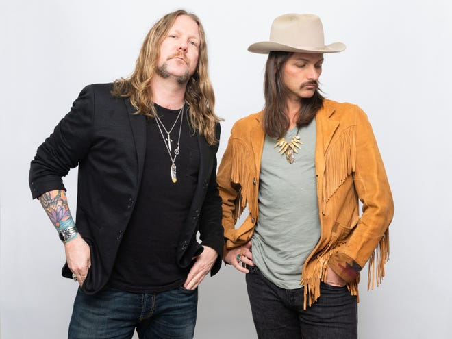 Devon Allman and Duane Betts lead the Allman Betts Band, which played Saturday at the St. Augustine Amphitheatre.