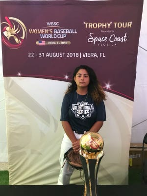 Violet  is chosen by her Marlin team members as the stand out player and  to accept the 2018 Women's World Baseball Team Gold Cup presented in the Jackie Robinson Stadium, Vierra, Florida.
