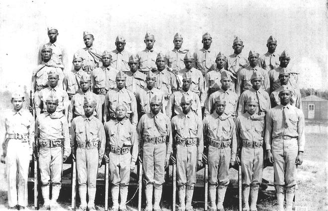 Company A, Platoon 202 at Montford Point, October 1943.
