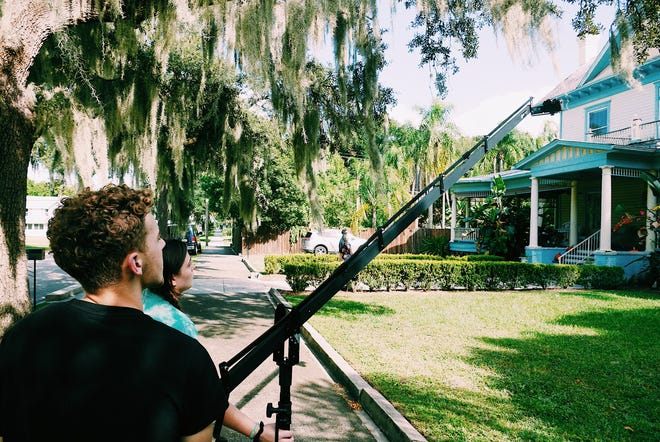 """David Isn't Here Anymore'' was written in July 2019 and shot in the historic Stanford house (now a tea room) over two days in Bartow."