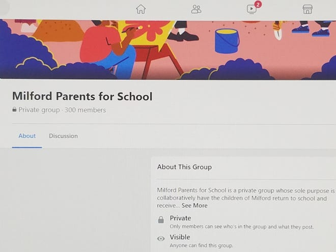 """A group of Milford parents has formed a Facebook group, """"Milford Parents for School,"""" as part of their push to get schools to resume in-person classes full time."""