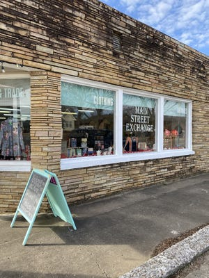 Main Street Exchange is a consignment store and one of the few places to shop in town.