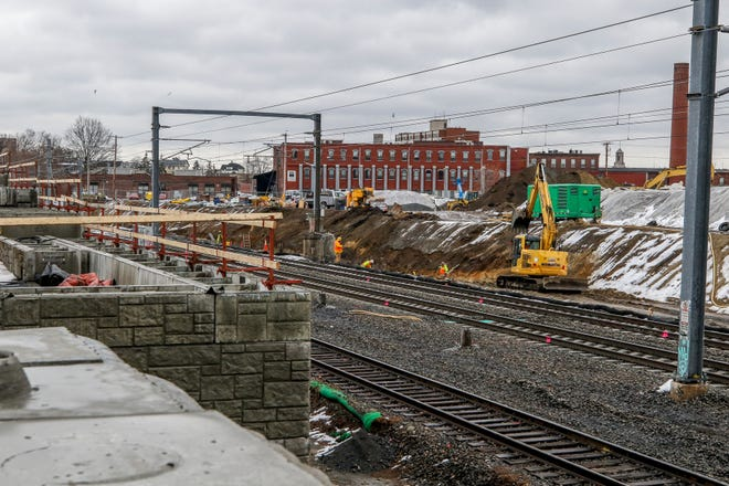 Construction of the new Pawtucket train station and an adjoining bus hub is expected to be finished by the end of the year, with service starting in the summer of 2022.