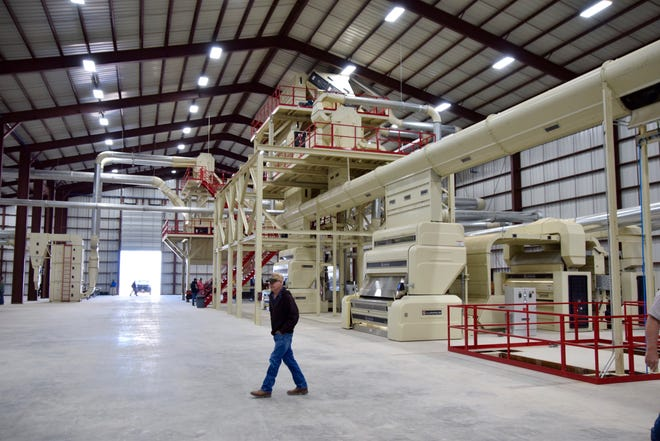 Part of the new super gin facility located 3.5 miles northwest of Mereta. The facility opened on February 5.