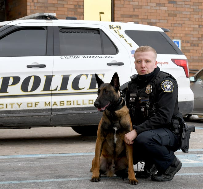 Massillon officer Anthony Crabtree and police K-9, Luiz, started regular patrols last week. The two have been assigned to the department's afternoon shift, which runs from 2 to 10 p.m.