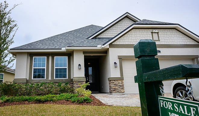 A home for sale in the Treaty Oaks development outside of St. Augustine on Friday, February 5, 2021.