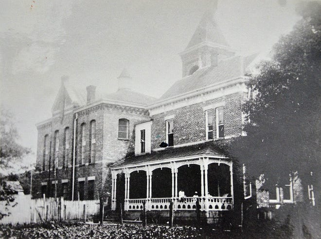 The St. Johns County Jail on San Marco Avenue in St. Augustine in the 1900s.