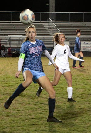 The North Port High girls soccer team will be home for the regional quarterfinals Tuesday against Fort Myers.