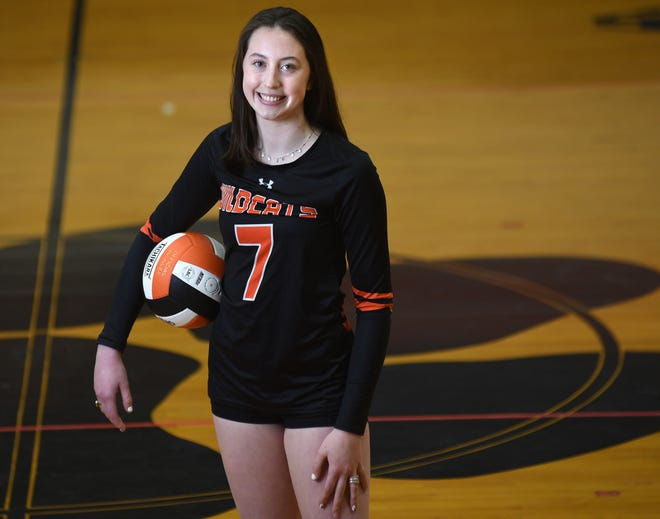 New Hanover's Megan Tamisiea, in Brogden Hall, led the Mideastern Conference in kills on her way to sharing StarNews All-Area Volleyball Player of the Year honors.