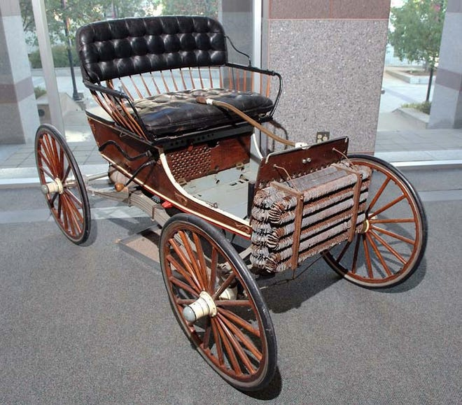 Gilbert Waters made the first gasoline-powered car in North Carolina and very possibly in the South in 1903. The car is on display at the NC Museum of History. [Bill Hand / Sun Journal Staff]