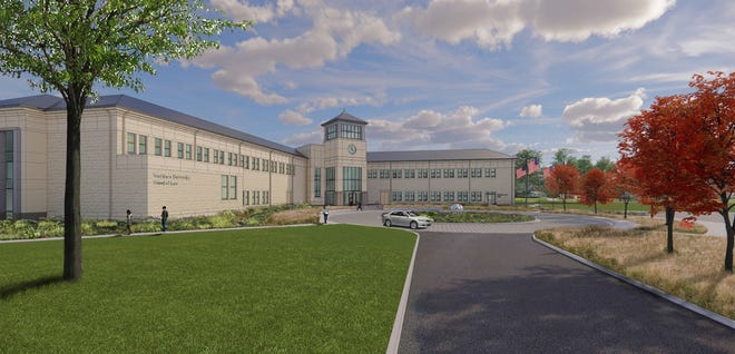 The planned Washburn University School of Law building will tentatively break ground in May on the southeast corner of campus.
