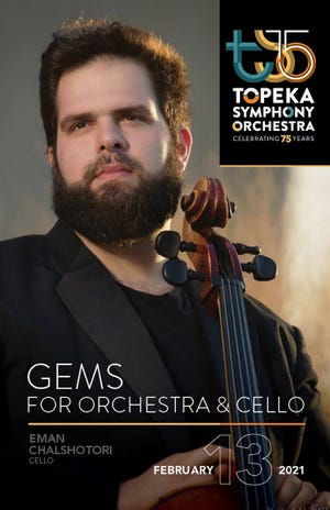Topeka Symphony Orchestra's principal cellist Eman Chalshotori will be featured during the orchestra's Feburary concert.
