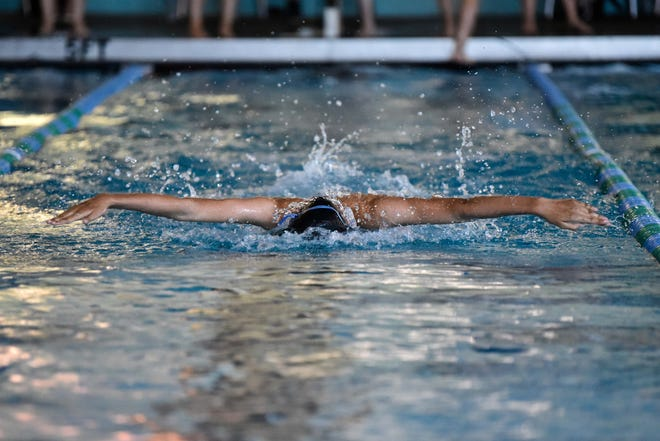 Hoke County's Nevaeh Roverato was named Girls Swimmer of the Year in the Sandhills 4-A Conference. Three Cumberland County swimmers also earned that honor.