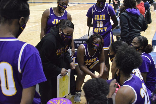 After playing just one game in January, the Jack Britt girls' basketball team is finally finding its footing in a shortened 2021 season.