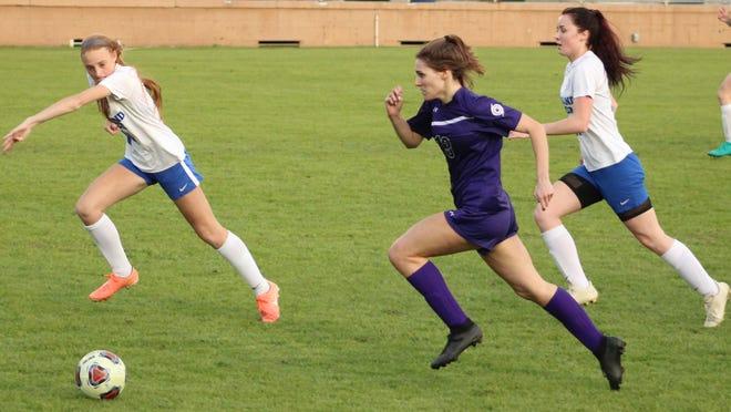 GHS' senior Marley Block scored five of the team's seven goals Thursday.