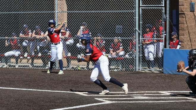 CSU Pueblo senior Gabby Moreno takes a swing at the plate during a 2020 game. The Pack's season was canceled shortly after it started, but Moreno is back for another year