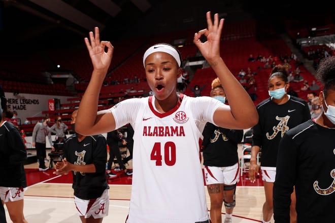 2/4/21 WBB Alabama vs GeorgiaAlabama Forward Jasmine Walker (40)Photo by Rodger Champion