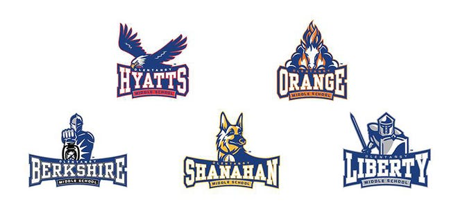 Olentangy Schools' five middle schools will have new logos.