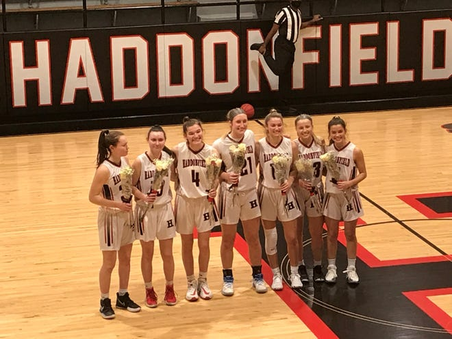 The Haddonfield Memorial High School girls basketball team honored its seniors on Thursday night. The Haddons went on to win their season opener with a 60-30 triumph over Sterling.