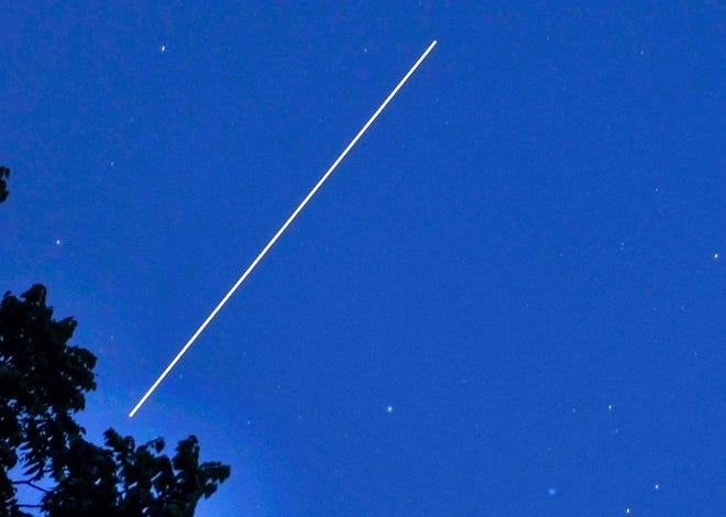 The International Space Station will make a flyby tongiht.
