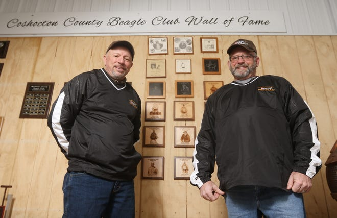 Brothers Dave, left, and Donnie McVay are members of the Coshocton County Beagle Club Hall of Fame, and were instrumental in bringing United Kennel Club events to the area.