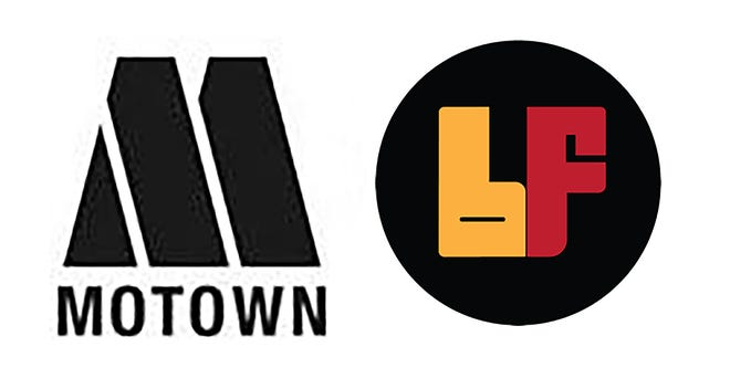 Logos of Motown Records and its Black Forum subsidiary, being relaunched in 2021.